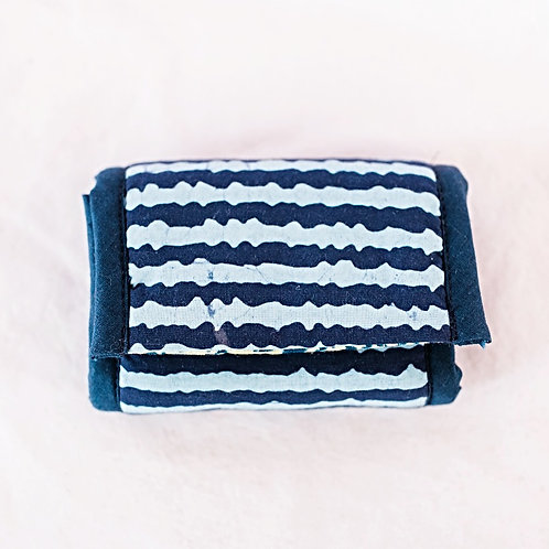 Essential Oil Travel Pack - African Print: Indigo/Light Blue
