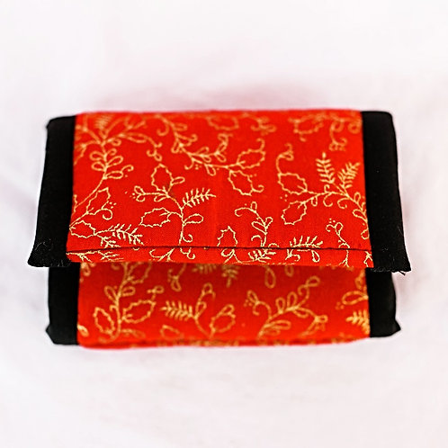 Essential Oil Travel Pack - Red/Gold/Black Print