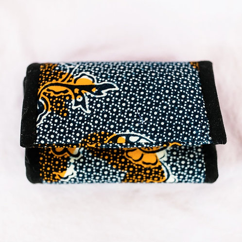 Essential Oil Travel Pack - African Print: Black/White/Gold Flowers