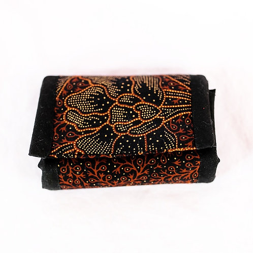 Essential Oil Travel Pack - African Print: Black/Gold/Orange Flowers
