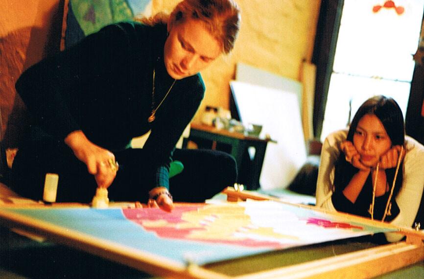 Silk painting 2001