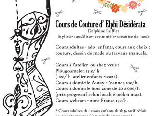Cours de couture Auray - Vannes