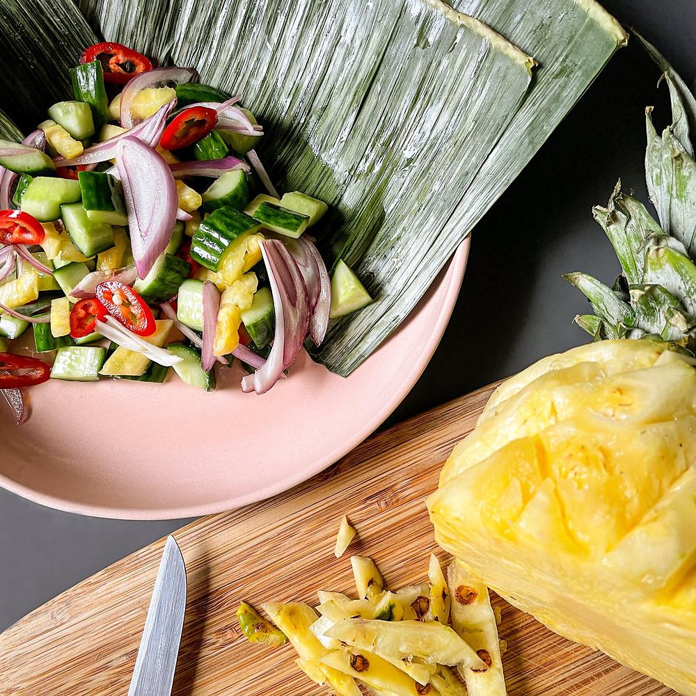 Ananas Gurken Salat