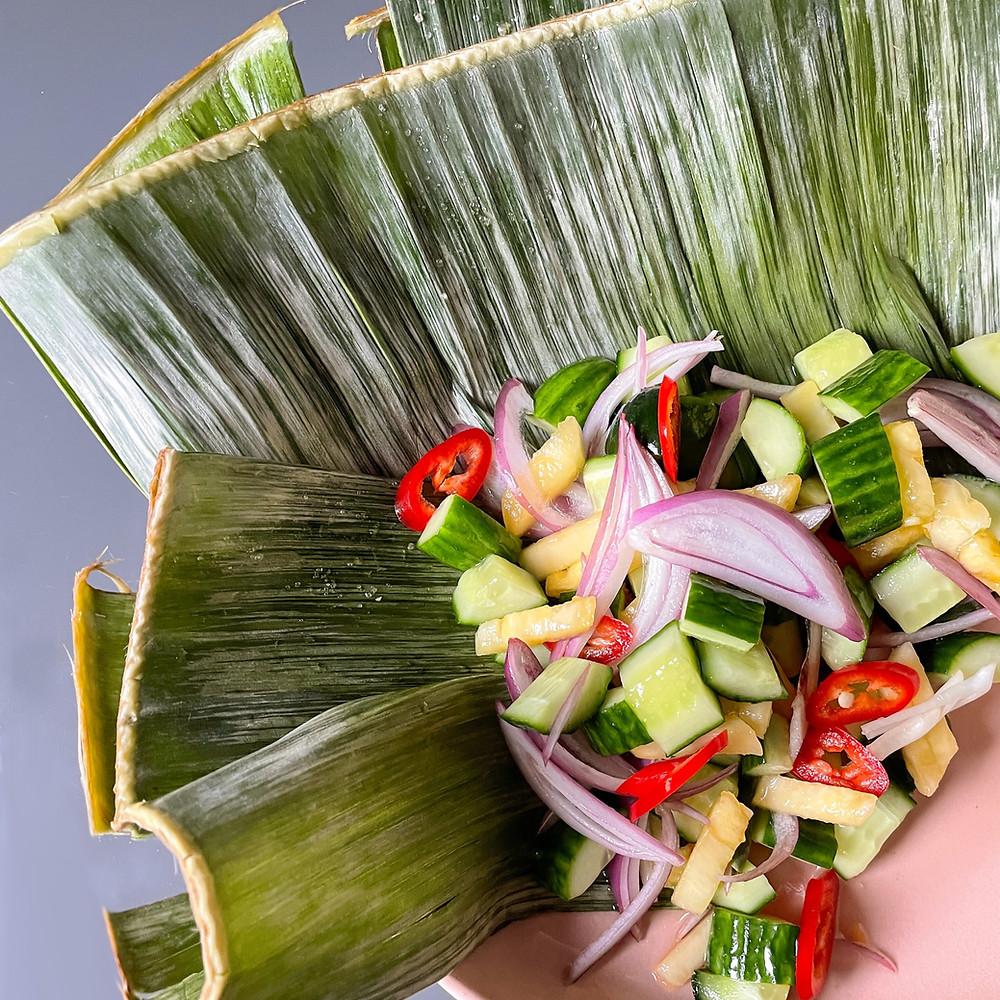 Acar Timun Eingelegter Gurken Ananas Salat