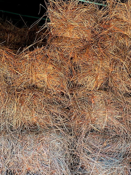Pine straw, baled tags