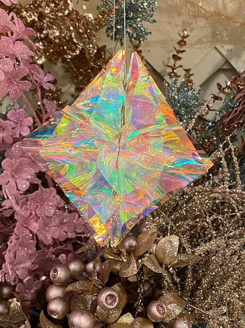 iridescent star ornament