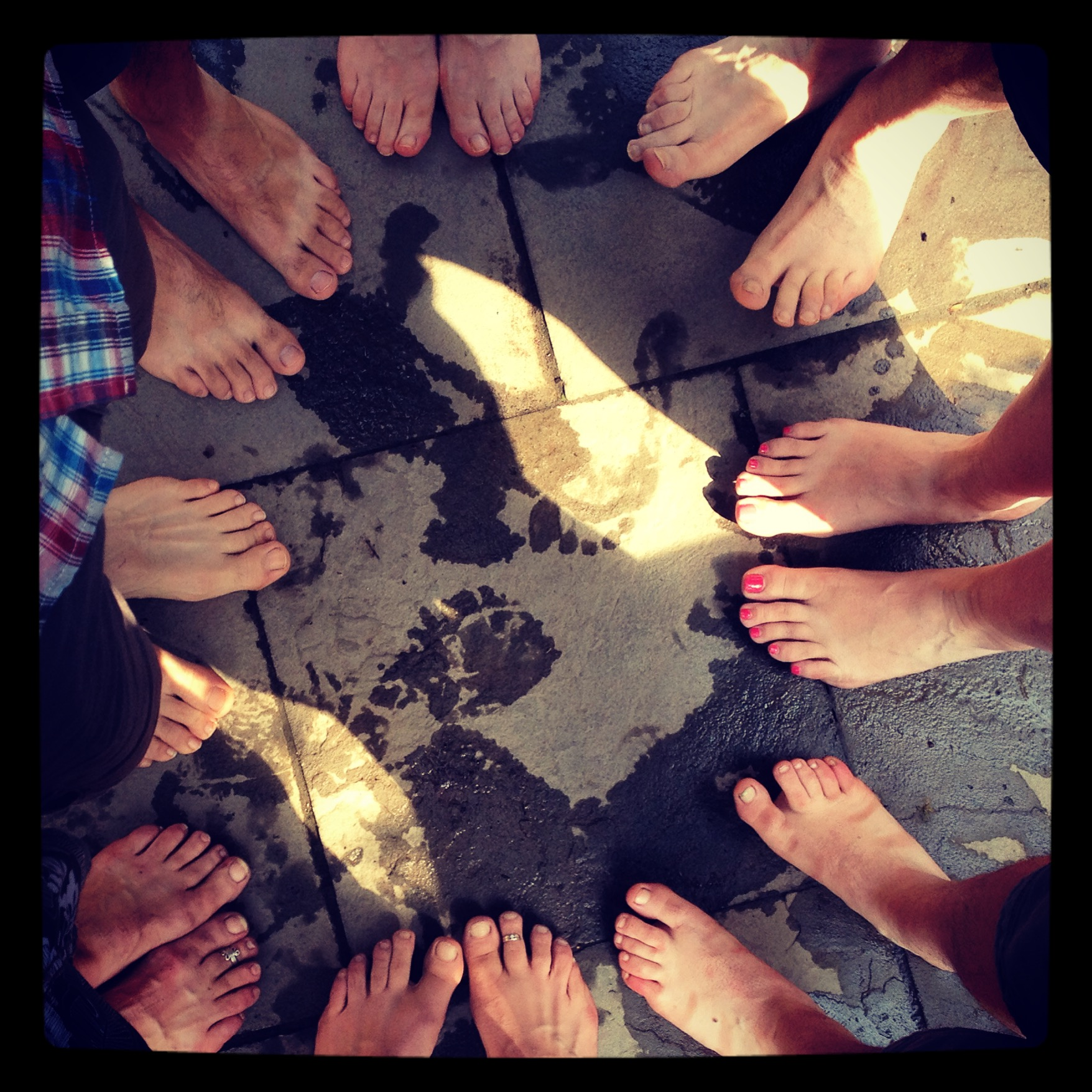 our feet for a toms promotion