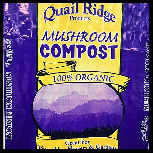 Organic Mushroom Compost 1 cubic foot bag