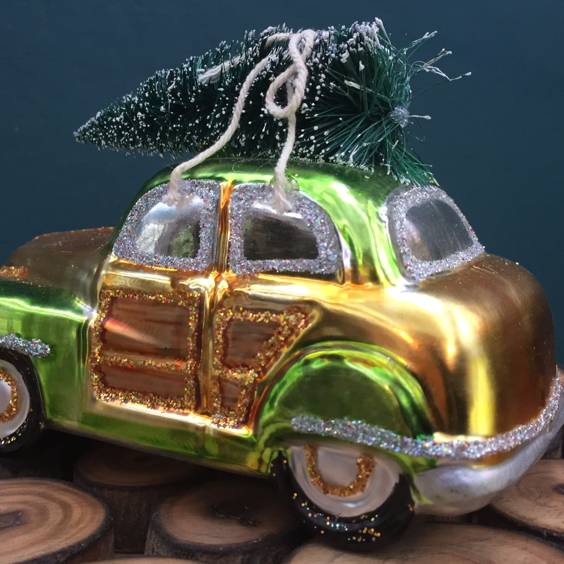 vintage christmas car