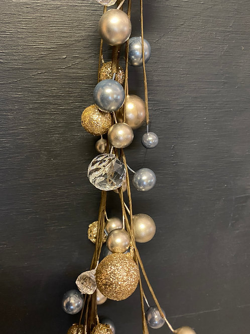 blue and gold garland