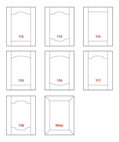 Lewis Cabinet Stile and Rail Profiles