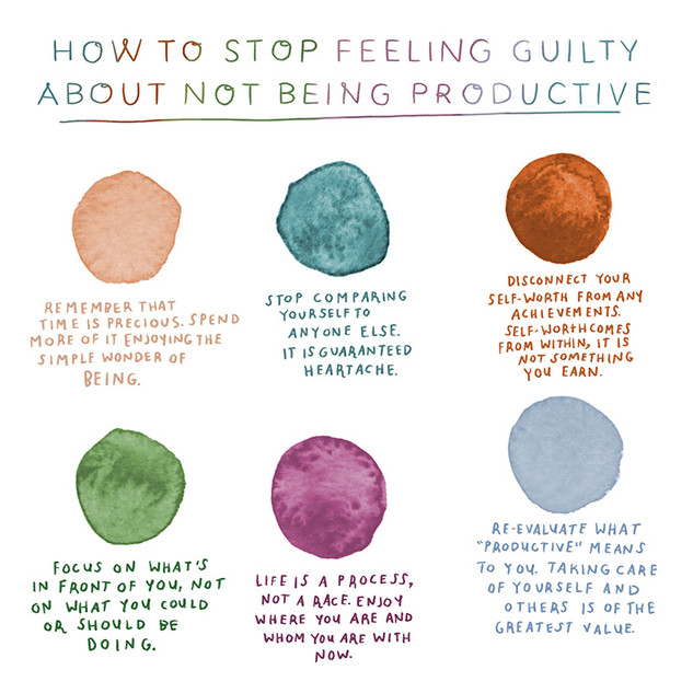 HOW TO STOP FEELING GUILTY ABOUT NOT BEING PRODUCTIVE (A color palette)