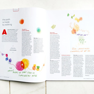 UPPERCASE MAGAZINE: The Path is Made by Walking