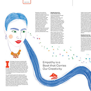 UPPERCASE MAGAZINE: Empathy is a Boat That Carries Our Creativity