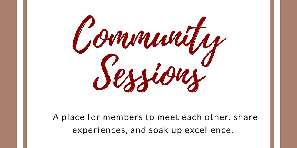 October Community Session