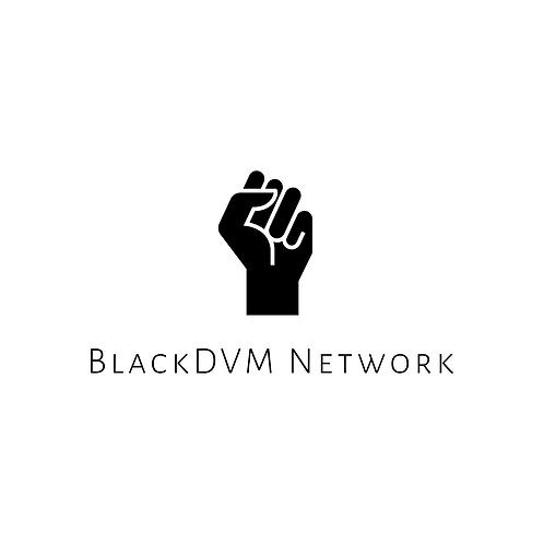 Black DVM Network Sticker