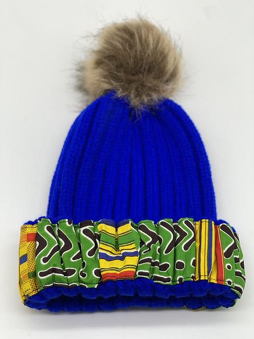 Blue Cozy Crown Cap