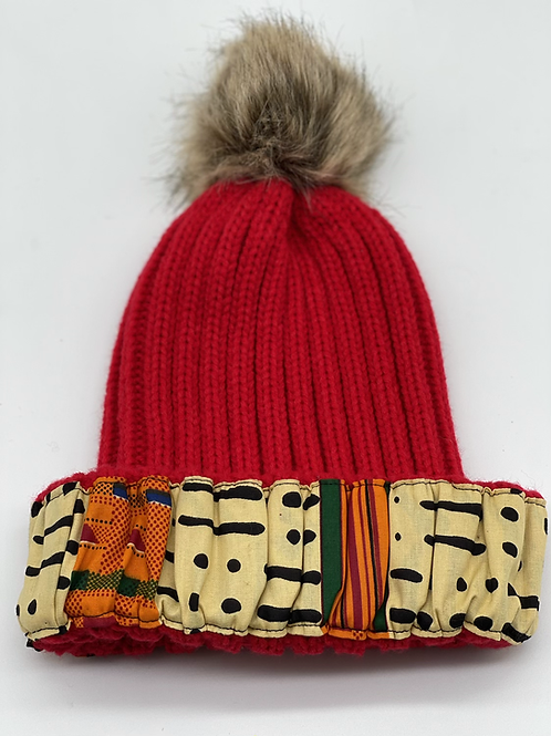 Red Cozy Crown Cap