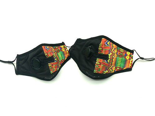 "Kolorful Kente ""Zip Ya Lip"" N95 Washable Face Mask"