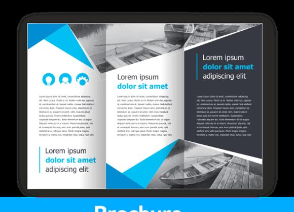 Brochure Din lungo 10x21 stampa fronte retro - carta 135 gr. - 3 ante - 6 faccia