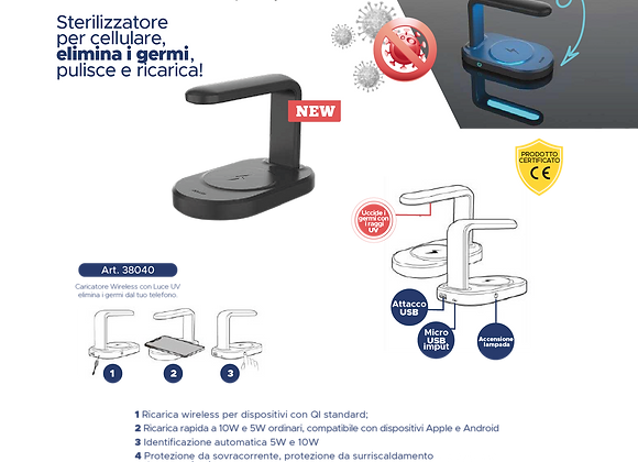 Sterilizzatore Caricatore per cellulari