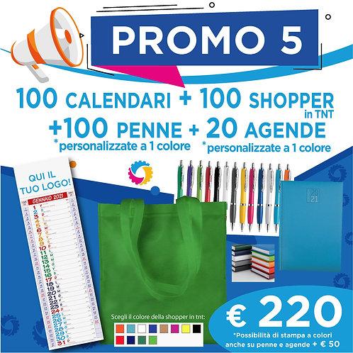 Promo 5 - Calendari, Shopper, Penne e Agende