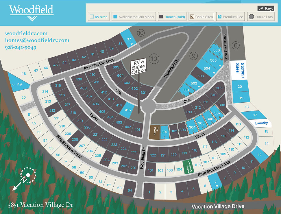 Woodfield Homesite Sales Map 5.0