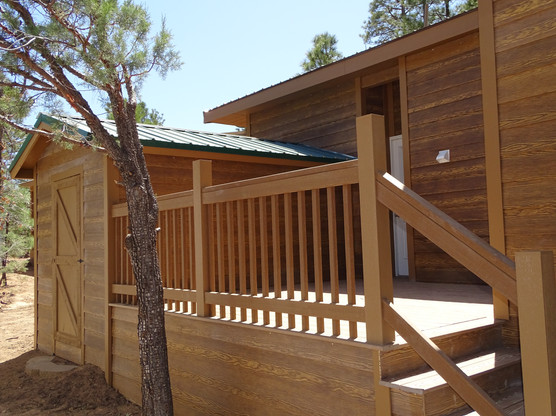 Added Deck Space with Attached Shed