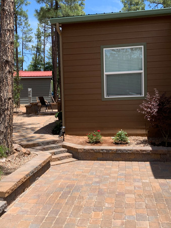 Paver driveway and walkway