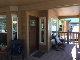 Craftsman Style Front Door with 6' Front Deck
