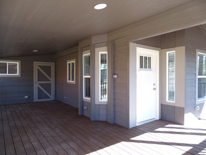 Wrap around porch with attached shed