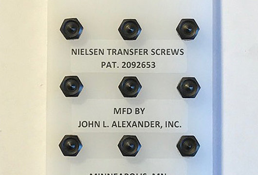 10-32 screws, Nielsen Transfer Screws, precision hand tools, transfer punches, counter punch, heat treated
