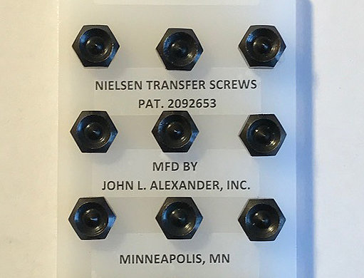 "3/8"" screws, Nielsen Transfer Screws, precision hand tools, transfer punches, counter punch, heat treated"