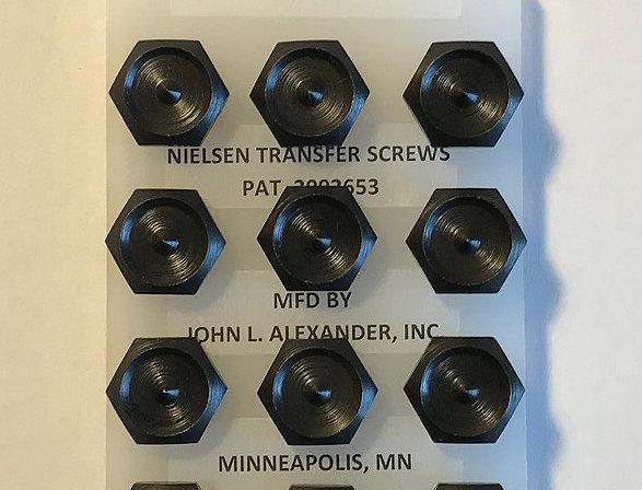 "7/16"" screws, Nielsen Transfer Screws, precision hand tools, transfer punches, counter punch, heat treated"