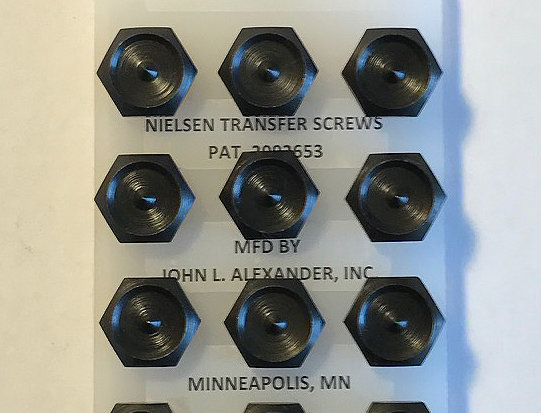 "1/2"" screws, Nielsen Transfer Screws, precision hand tools, transfer punches, counter punch, heat treated"
