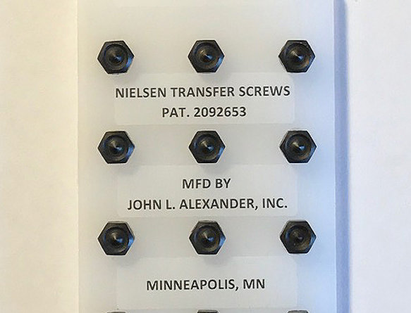 10-24 screws, Nielsen Transfer Screws, precision hand tools, transfer punches, counter punch, heat treated