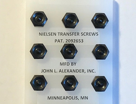 "5/16"" screws, Nielsen Transfer Screws, precision hand tools, transfer punches, counter punch, heat treated"