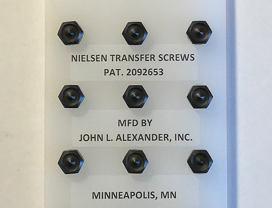 "1/4"" screws, Nielsen Transfer Screws, precision hand tools, transfer punches, counter punch, heat treated"
