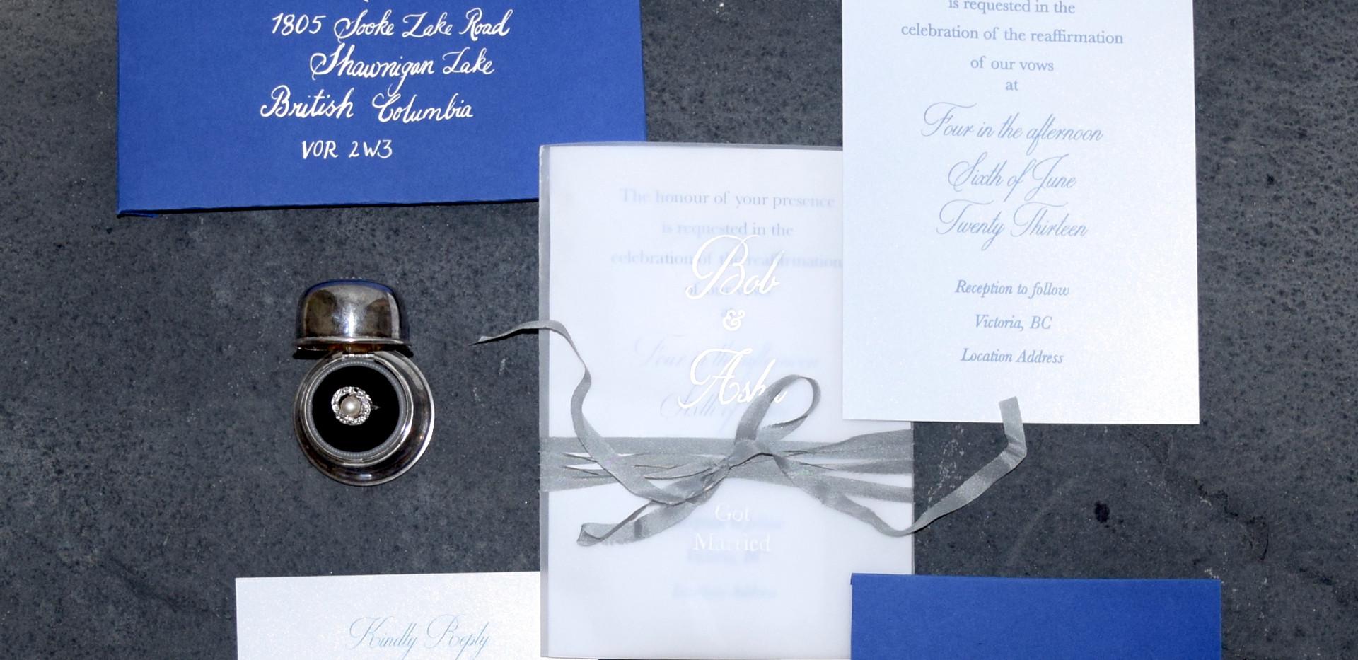 elopement annoucment invitation suite