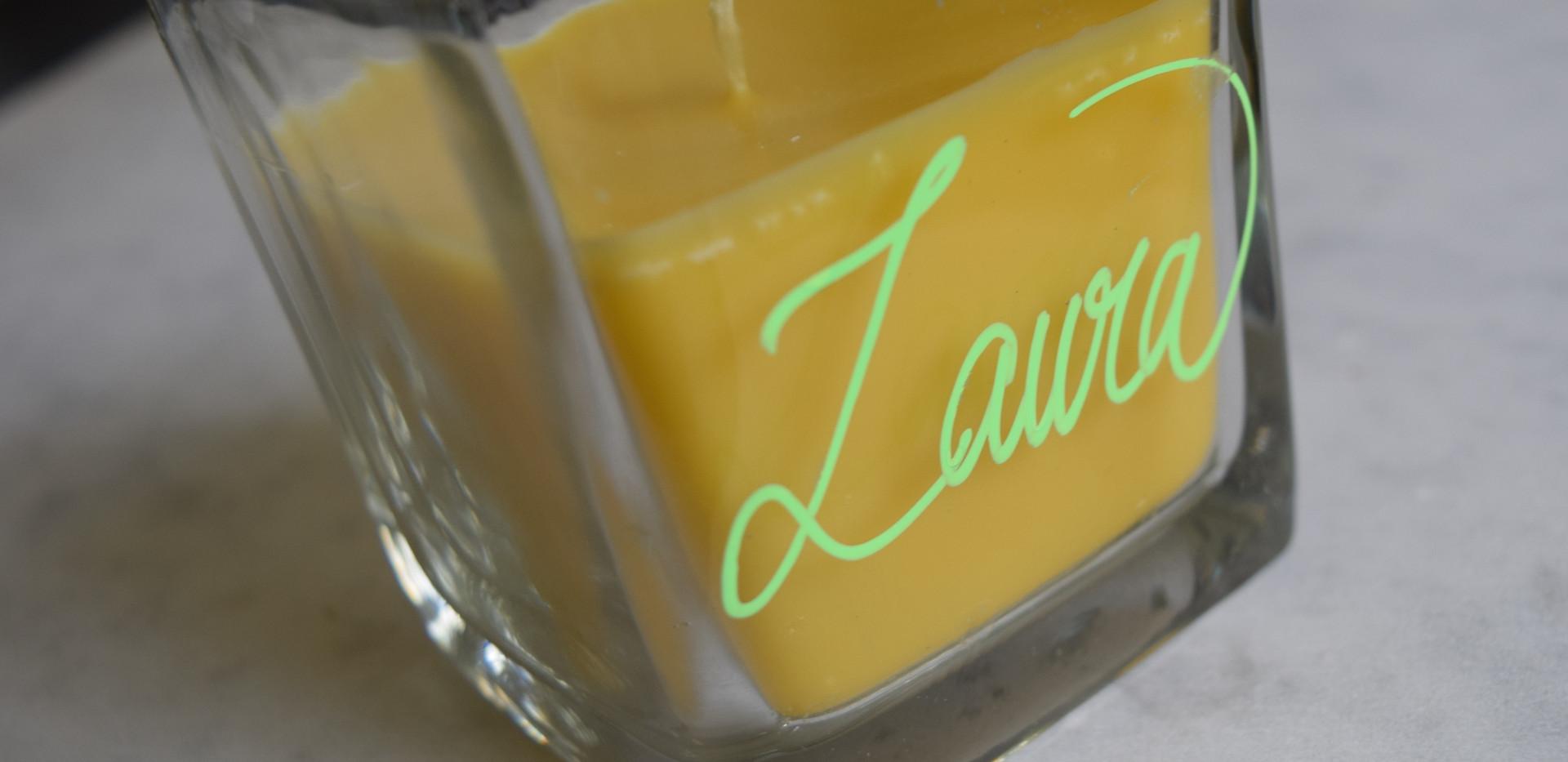 Lemon Candle Lime coloured ink