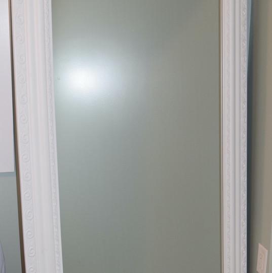 White Scorll Mirror