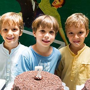 Aniversário de 7 anos do Joaquim, Teodoro e Rodrigo