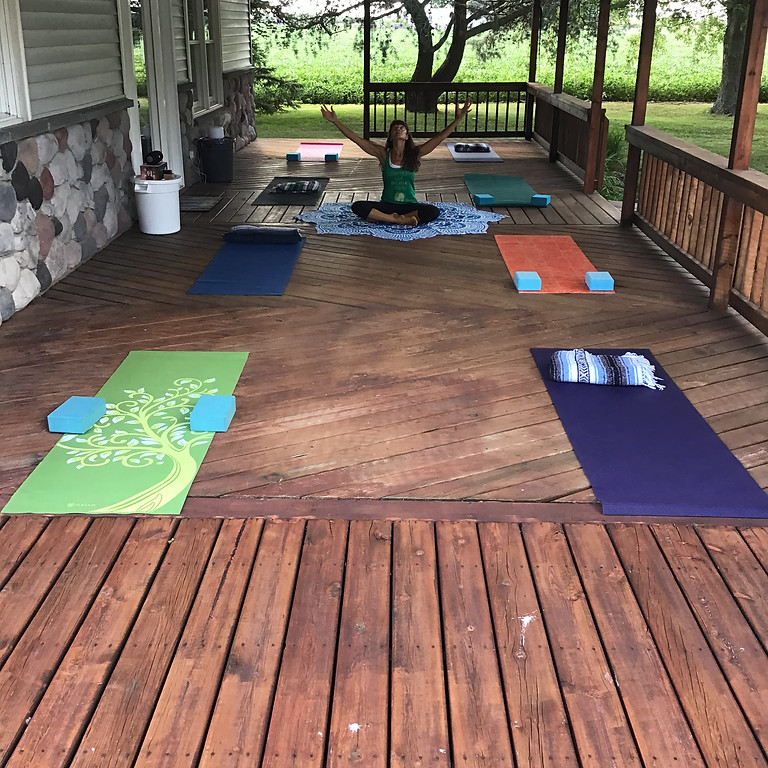 All levels OUTDOOR Beginner Yoga at the home of Theresa Hochstetler