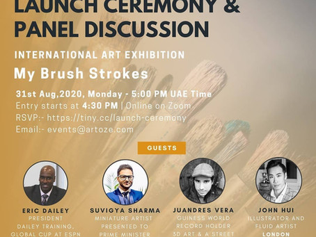 ARTOZE International Art Exhibition for Artists - My Brush Strokes