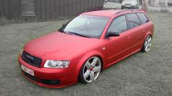 Audi A4_Car-wrapping Red Aluminium Mat_by DmdArts be 56.jpg
