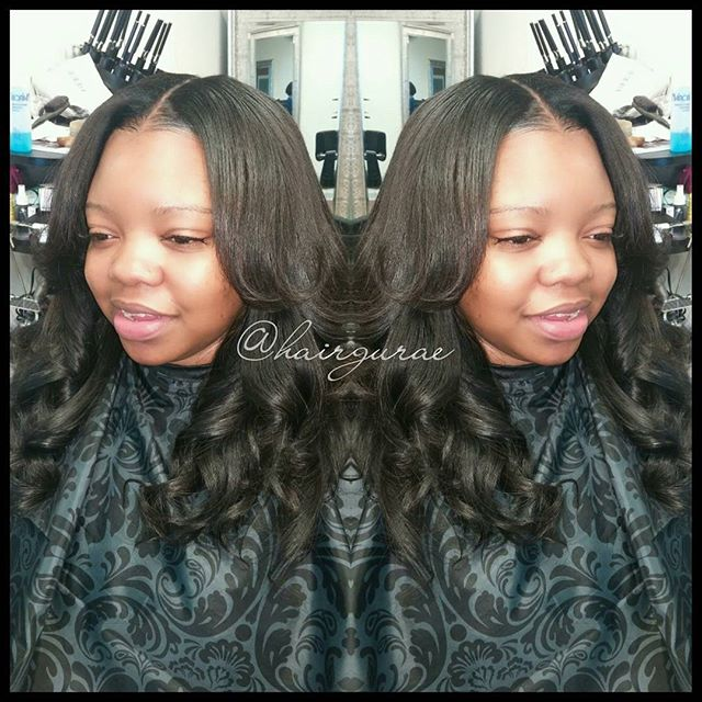 Full sew in with minimal leave out