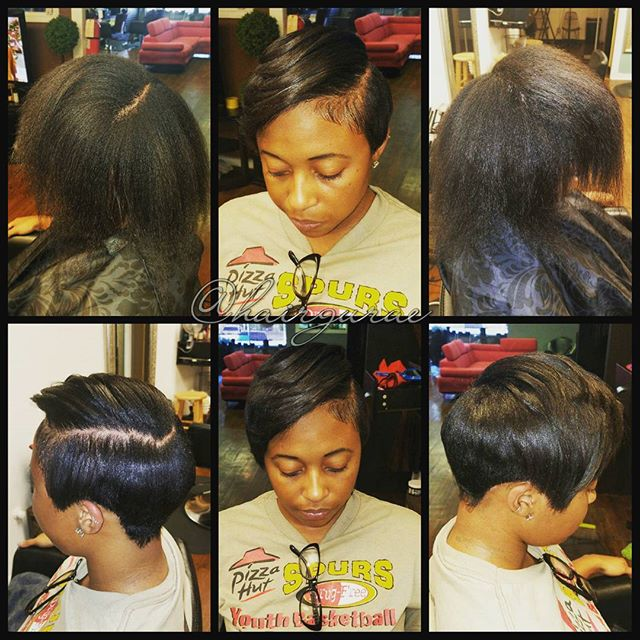 Relaxer and cut for my girl _jazzminebrianna bold move for a bold woman! #hairbythegurae #sanantonio