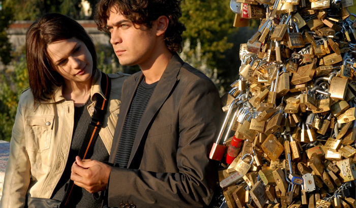 romantic padlock bridge