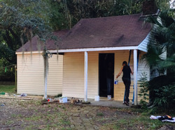exterior shed build