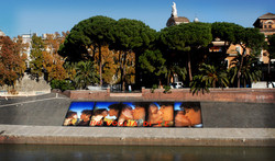 9x15m poster over tiber river